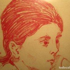 Arte: RETRATO DIBUJO DEL PINTOR SALVADOR TORRE NARVAEZ FIRMADO EN 1967. Lote 61307967