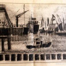 Arte: DIBUJO A LA CERA DE GRANADOS LLIMONA - 51X41CM - 1972. Lote 161484142