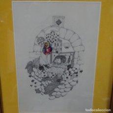 Arte: DIBUJO A TINTA FIRMADO Z. BALADA.1974.. Lote 161503498
