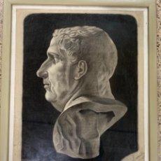 Arte: PRECIOSO DIBUJO AL CARBONCILLO ,ENGUIX ESCIBA. Lote 161623542