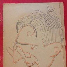 Arte: CARICATURA DE B. JARNES A SU AMIGO SANCHEZ FELIPE EN 1923. Lote 161639886