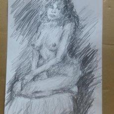 Arte: DIBUJO EROTICO ORIGINAL. Lote 161859614
