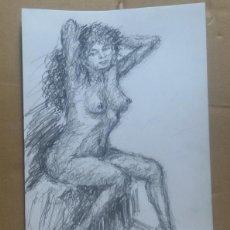 Arte: DIBUJO EROTICO ORIGINAL. Lote 161860314
