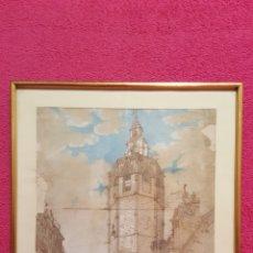 Arte: DIBUJO DE VISTA DE CATEDRAL DE JUAN DE MENDIOLAGOITIA. SIGLO XIX. Lote 161921277