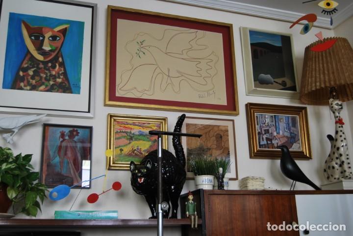Arte: DIBUJO A ROTULADOR DE RAFAEL ALBERTI - PALOMA DE LA PAZ - 1991 - GRAN TAMAÑO - Foto 5 - 162566126