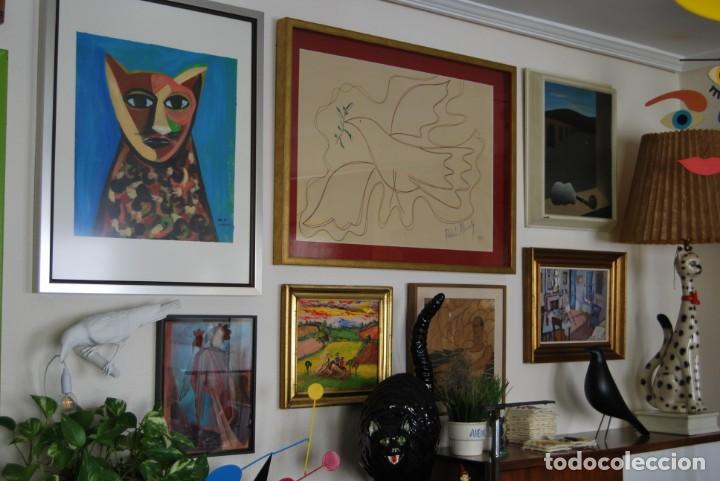 Arte: DIBUJO A ROTULADOR DE RAFAEL ALBERTI - PALOMA DE LA PAZ - 1991 - GRAN TAMAÑO - Foto 6 - 162566126
