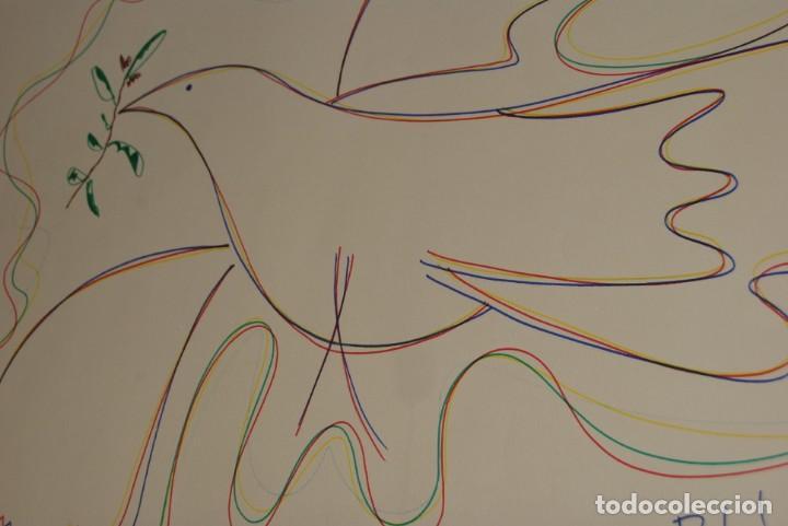 Arte: DIBUJO A ROTULADOR DE RAFAEL ALBERTI - PALOMA DE LA PAZ - 1991 - GRAN TAMAÑO - Foto 8 - 162566126