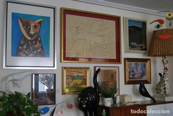 Arte: DIBUJO A ROTULADOR DE RAFAEL ALBERTI - PALOMA DE LA PAZ - 1991 - GRAN TAMAÑO - Foto 9 - 162566126