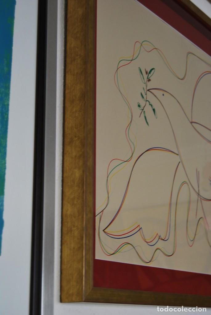 Arte: DIBUJO A ROTULADOR DE RAFAEL ALBERTI - PALOMA DE LA PAZ - 1991 - GRAN TAMAÑO - Foto 10 - 162566126