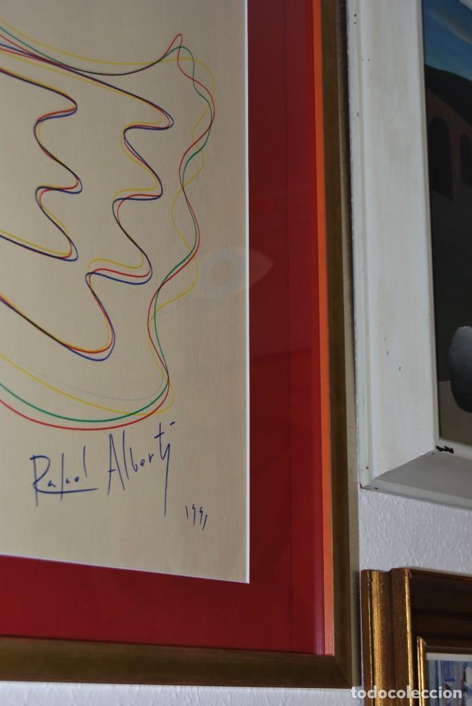Arte: DIBUJO A ROTULADOR DE RAFAEL ALBERTI - PALOMA DE LA PAZ - 1991 - GRAN TAMAÑO - Foto 11 - 162566126