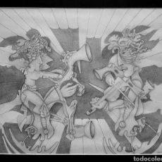 Arte: ENRIQUE QUEIPO (MÁLAGA 1962), MAGNIFICO Y GRAN DIBUJO A LÁPIZ, FIRMADO.. Lote 162575453