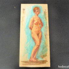 Arte: DIBUJO REALIZADO A CERAS - ANÓNIMO - DESNUDO FEMENINO - . Lote 162856198