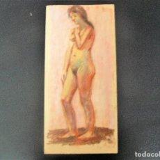 Arte: DIBUJO REALIZADO A CERAS - ANÓNIMO - DESNUDO FEMENINO - . Lote 162858706