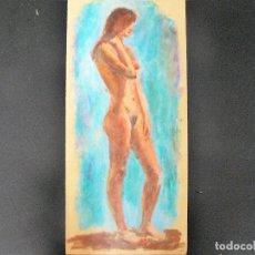 Arte: DIBUJO REALIZADO A CERAS - ANÓNIMO - DESNUDO FEMENINO - . Lote 162862502
