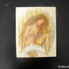 Arte: DIBUJO REALIZADO A CERAS - ANÓNIMO - DESNUDO FEMENINO - . Lote 162886566
