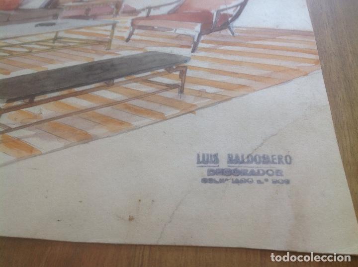 Arte: DIBUJO DE SALÓN .LUIS BALDOMERO. DECORADOR - Foto 2 - 162923254