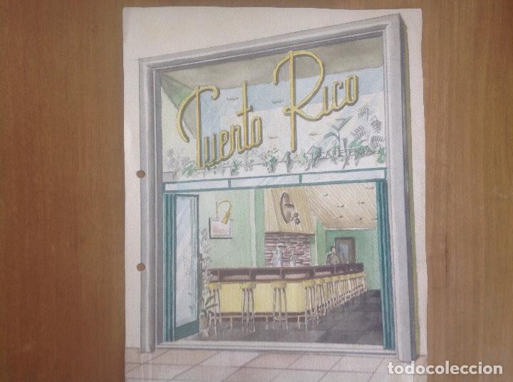 DIBUJO DE BAR.LUIS BALDOMERO. DECORADOR (Arte - Dibujos - Contemporáneos siglo XX)
