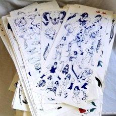 Arte: LOTE DE MÁS DE 9000 DIBUJOS, PLANTILLAS, ILUSTRACIONES PARA TATUADORES - AÑOS 80 - 90. Lote 163403690