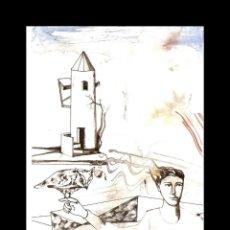 Art: DIBUJO A TINTA-ACUARELA-GRAFITO DE GUIRADO. Lote 163465026