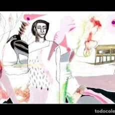 Art: DIBUJO A TINTA-ACUARELA-GRAFITO DE GUIRADO. Lote 163468550