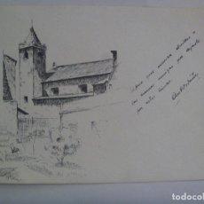 Arte: BONITO DIBUJO A PLUMILLA DE PAISAJE URBANO . PUERTO REAL , 1940. Lote 163533882