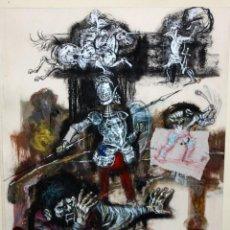 Arte: ANTONIO COBOS SOTO (GUADALAJARA, 1908 - SAN LORENZO DEL ESCORIAL, 2001) TECNICA MIXTA SOBRE PAPEL. Lote 163705042