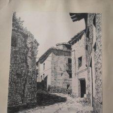 Arte: ORTUÑO ROCH, DIBUJO A TINTA, CALLE DE PUEBLO, EXCELENTE CALIDAD, FIRMADO 23X31CM. Lote 163801902