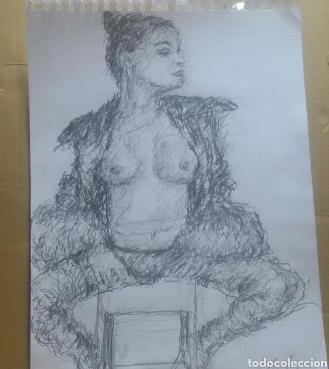 Arte: Dibujo chica posando original - Foto 4 - 163906726