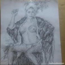 Arte: DIBUJO VEDETTE ORIGINAL. Lote 163908438