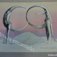 Arte: PLA NARBONA. ALFABETO SURREAL I. OBRA ORIGINAL CON CERTIFICADO. 31 X 25 CTMS. Lote 164120746