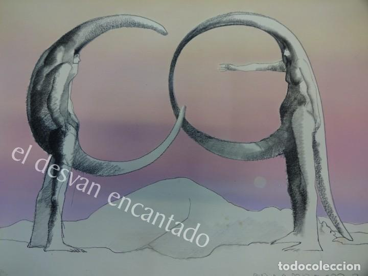 Arte: PLA NARBONA. Alfabeto Surreal I. Obra original con certificado. 31 x 25 ctms - Foto 3 - 164120746