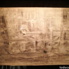 Arte: ESCENA DEL DON JUAN TENORIO POR JOAQUÍN MARTÍNEZ DE LA VEGA (1846-1905). Lote 164603681