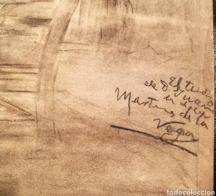Arte: ESCENA DEL DON JUAN TENORIO POR JOAQUÍN MARTÍNEZ DE LA VEGA (1846-1905) - Foto 2 - 164603681