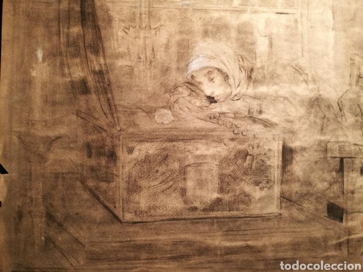 Arte: ESCENA DEL DON JUAN TENORIO POR JOAQUÍN MARTÍNEZ DE LA VEGA (1846-1905) - Foto 3 - 164603681