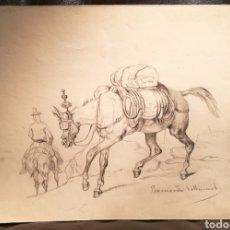 Arte: CABALLO POR BERNARDO VILLAAMIL MARRACI. CUBA.. Lote 164607669
