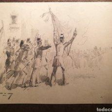 Arte: ESCENA BÉLICA POR MARCELINO DE UNCETA (1835-1905). Lote 164612398