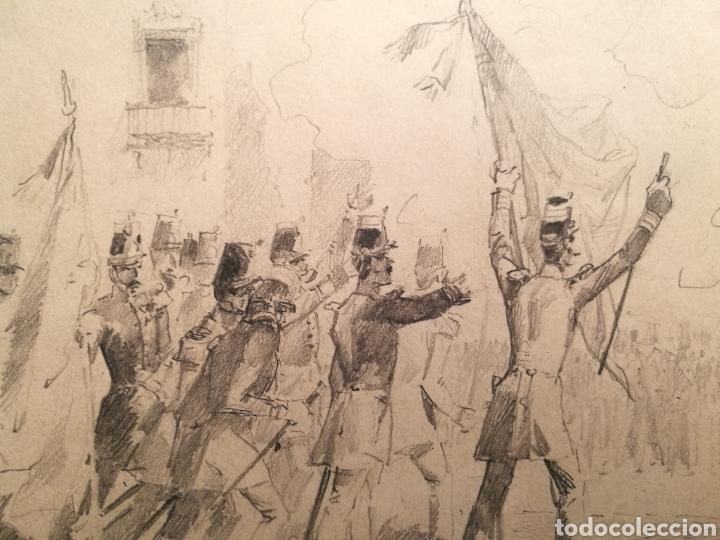 Arte: ESCENA BÉLICA POR MARCELINO DE UNCETA (1835-1905) - Foto 3 - 164612398