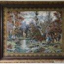 Arte: TAPIZ ARTESANAL GRAN TAMAÑO, ESCENAS DE CAZA INGLESA . Lote 164793522