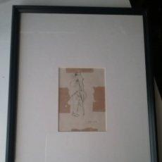 Arte: CUADRO DE RICARDO OPISSO DIBUJO A LÁPIZ COJO.. Lote 164919761