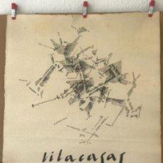 Arte: JOAN VILACASAS (SABADELL, 1920 - 2007) DIBUJO A TINTA . PLANIMETRÍA. . Lote 165115386