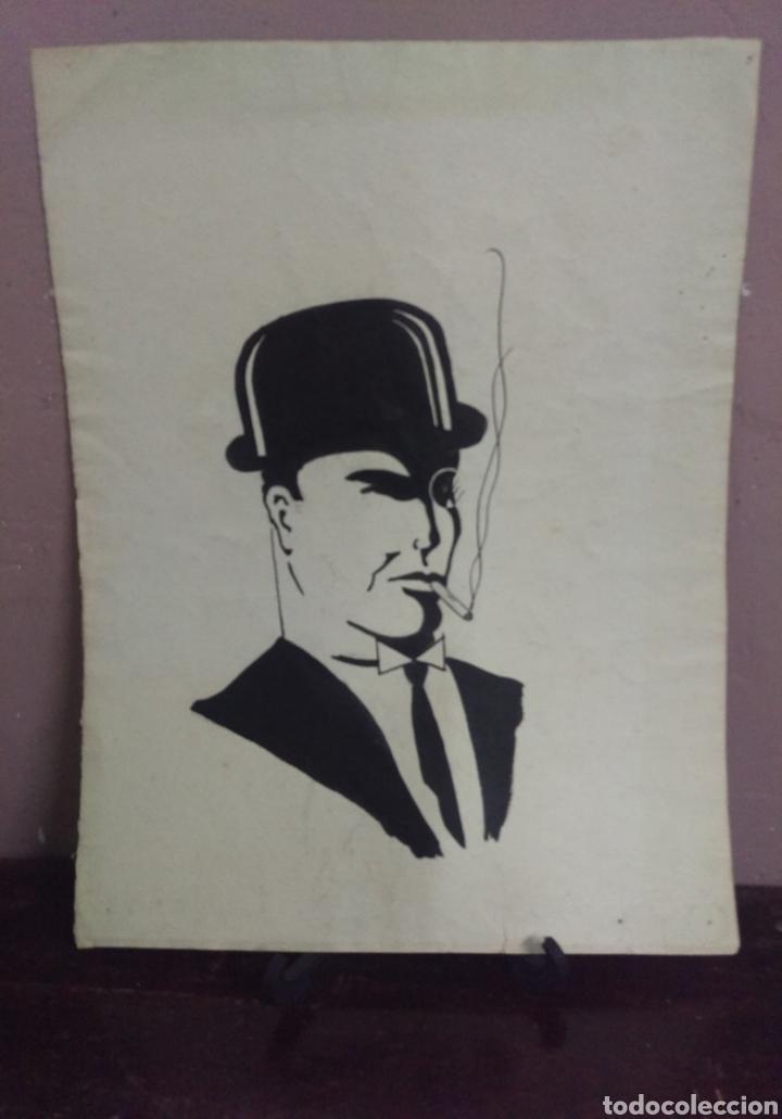 Arte: Dibujo original en tinta china anónimo - Foto 2 - 165168878