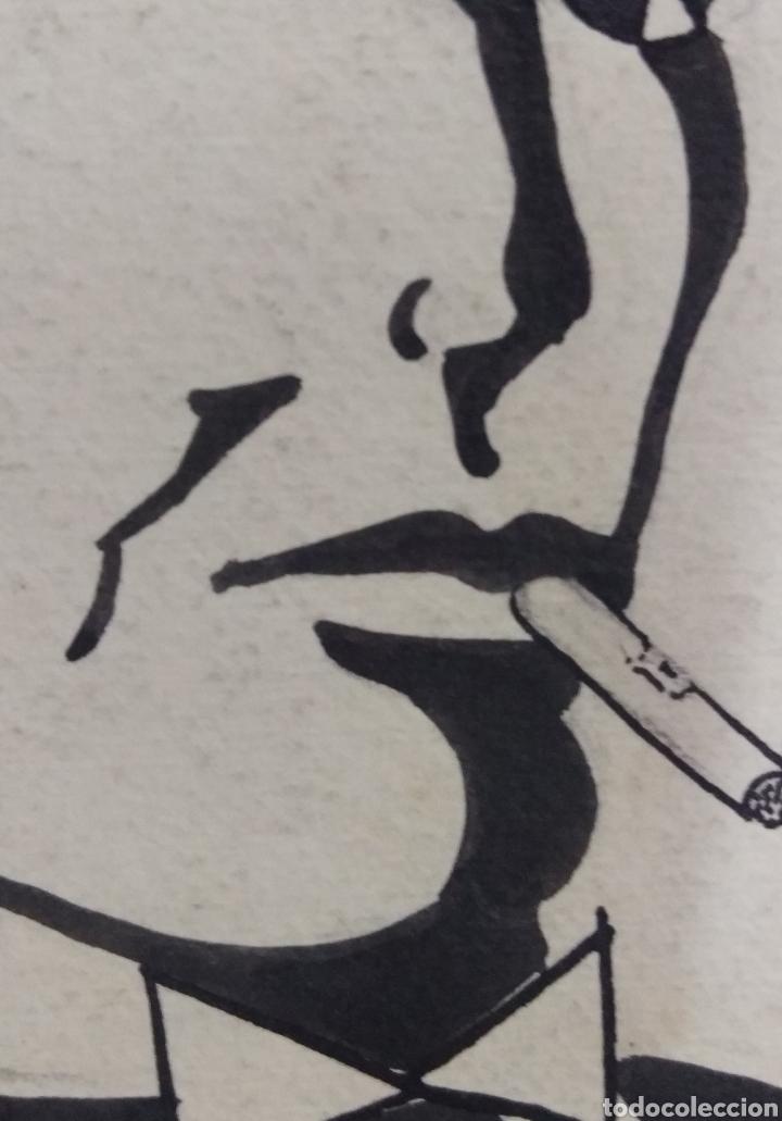 Arte: Dibujo original en tinta china anónimo - Foto 5 - 165168878