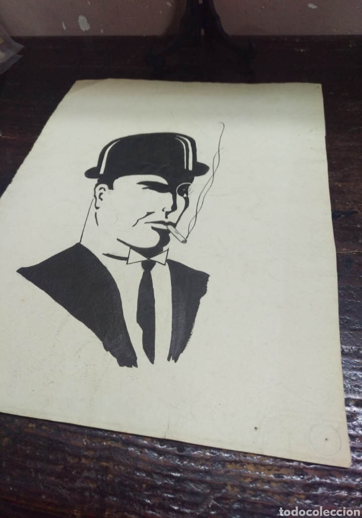 Arte: Dibujo original en tinta china anónimo - Foto 7 - 165168878