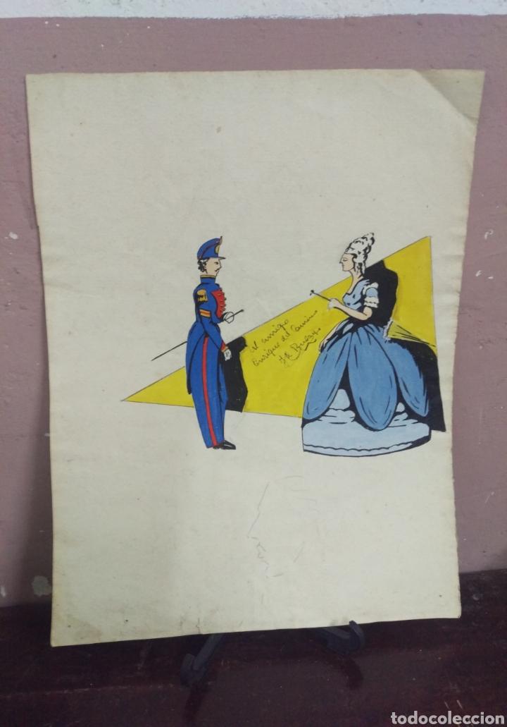 Arte: Dibujo original en tinta china anónimo - Foto 8 - 165168878