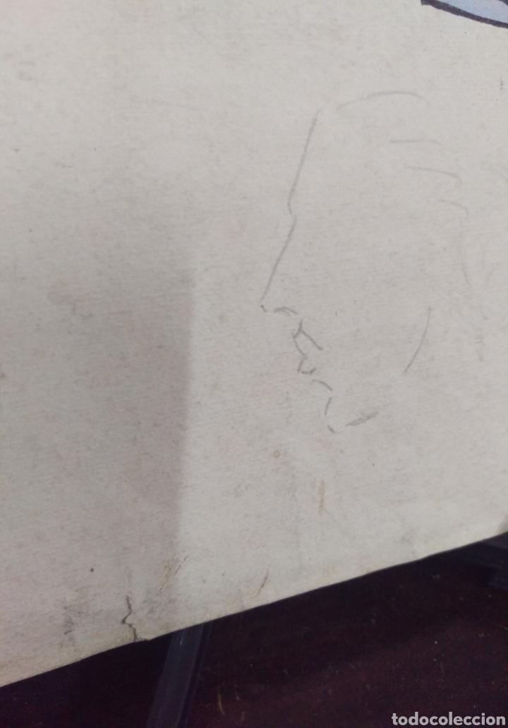 Arte: Dibujo original en tinta china anónimo - Foto 9 - 165168878