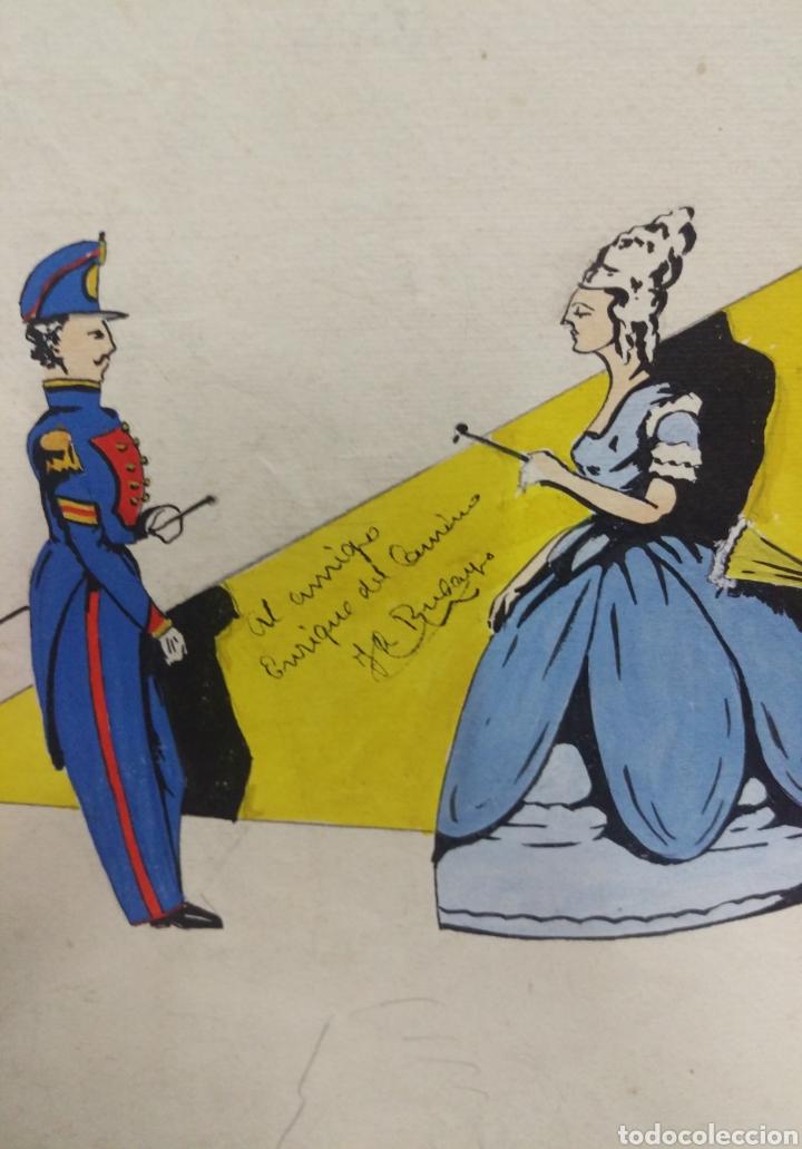 Arte: Dibujo original en tinta china anónimo - Foto 10 - 165168878