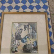 Arte: OBRA PICTÓRICA A PASTEL, FIRMADA. Lote 165175858