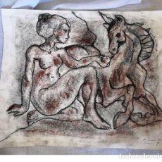 Arte: FABULOSO DIBUJO A COLOR SOBRE PAPEL DE MIQUEL TORNER DE SEMIR CON CERTIFICADO DEL AUTOR. Lote 165181678