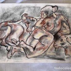 Arte: FABULOSO DIBUJO A COLOR SOBRE PAPEL DE MIQUEL TORNER DE SEMIR CON CERTIFICADO DEL AUTOR. Lote 165181938