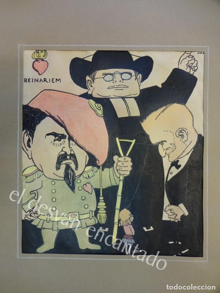 FELIU ELIAS I BRACONS (APA) 1878-1948. DIBUJO ORIGINAL PORTADA PAPITU Nº 74. 21X18 CTMS (Arte - Dibujos - Contemporáneos siglo XX)